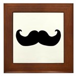 Black Moustache Framed Tile