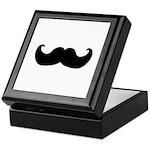 Black Moustache Keepsake Box