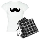 Black Moustache Women's Light Pajamas