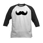 Black Moustache Kids Baseball Jersey