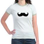 Black Moustache Jr. Ringer T-Shirt