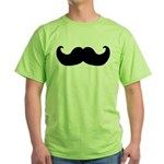 Black Moustache Green T-Shirt