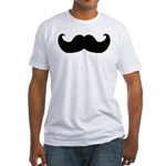 Black Moustache Fitted T-Shirt