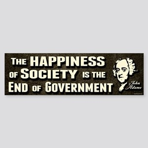 Adams Quote - End of Government Sticker (Bumper)
