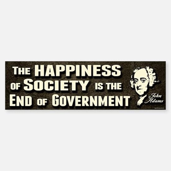 Adams Quote - End of Government Sticker (Bumper)