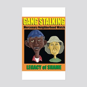 Ma and Pa Gang Stalking Sticker (Rectangle)