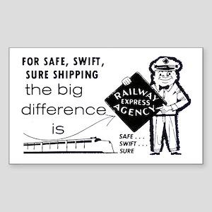 Railway Express 1959 Rectangle Sticker