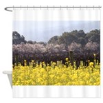 Mustard Popcorn - Wine Country Shower Curtain