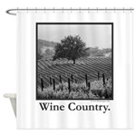 Wine Country in Black + White Gifts Shower Curtain