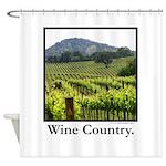 Vineyard Vista Wine Country Gifts Shower Curtain