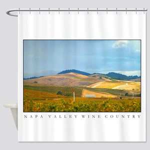 Sunlit Vineyard Hills Shower Curtain