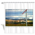 Sunlit Wine Country Shower Curtain