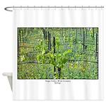 Spring Vineyard Wine Country Shower Curtain