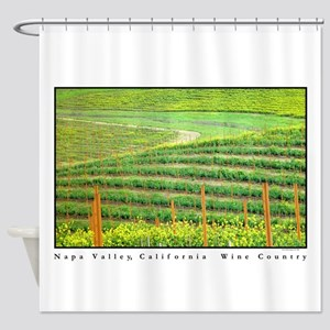 Napa Valley, California Wine County Shower Curtain