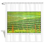 Napa Valley, California Wine County Shower Curtain