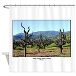 Winter Vines Wine Country Shower Curtain
