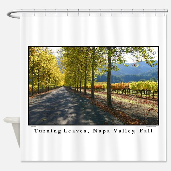 Turning Leaves, Napa Valley Fall Shower Curtain