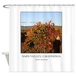 Vineyard Post 24 - Wine Country Shower Curtain