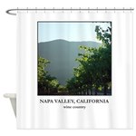 Napa Valley California Wine Country Shower Curtain