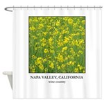 Mustard Bloom Wine Country Shower Curtain