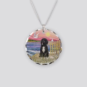 PinkSunset - PWD-5bw Necklace Circle Charm