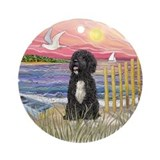 Portuguese water dog Round Ornaments