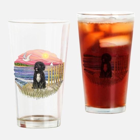 PinkSunset - PWD-5bw Drinking Glass