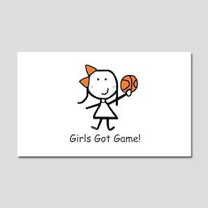 Girls Got Game Car Magnet 20 x 12