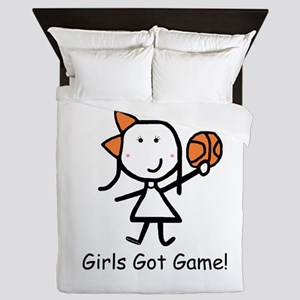 Girls Got Game Queen Duvet