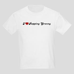 I Love Rapping Granny Kids T-Shirt
