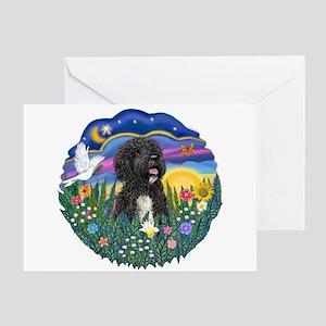 Garden-Sunset-PWD5bw Greeting Card