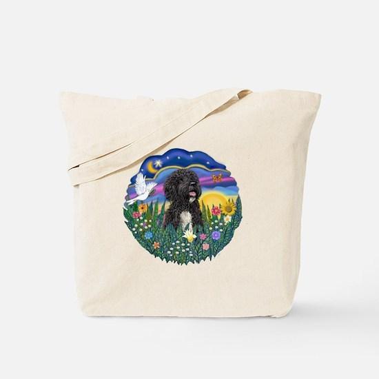 Garden-Sunset-PWD5bw Tote Bag