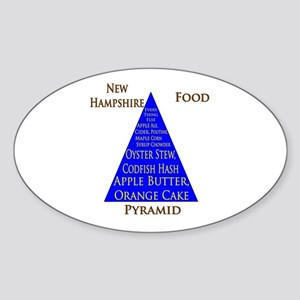New Hampshire Food Pyramid Sticker (Oval)