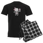 Girl & Pink Ribbon Men's Dark Pajamas