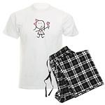 Girl & Pink Ribbon Men's Light Pajamas