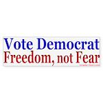 Democrats for Freedom Bumper Sticker