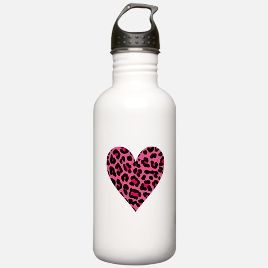 HOT PINK LEOPARD Water Bottle