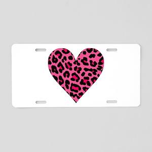HOT PINK LEOPARD Aluminum License Plate