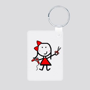 Hairstylist - Stephanie Aluminum Photo Keychain