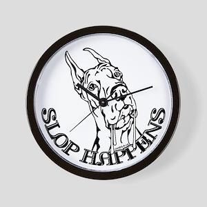 Slop Happens B&W Wall Clock