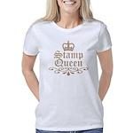 stamp_queen_mocha Women's Classic T-Shirt