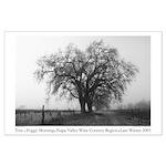 white + black trees napa winter large poster