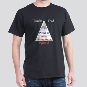Russian Food Pyramid Dark T-Shirt