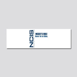 NCIS McGee's Rule Car Magnet 10 x 3