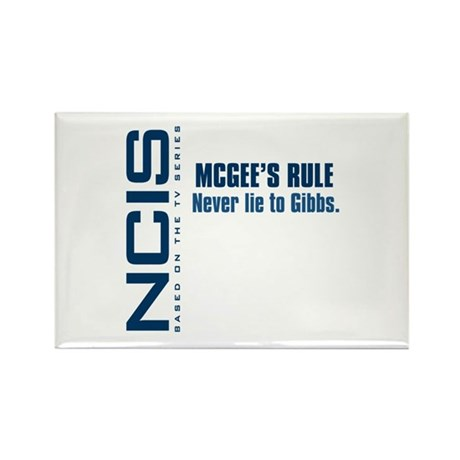 NCIS McGee's Rule Rectangle Magnet