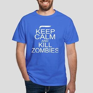 Keep Calm and Kill Zombies Dark T-Shirt