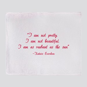 HG I am not pretty... Throw Blanket