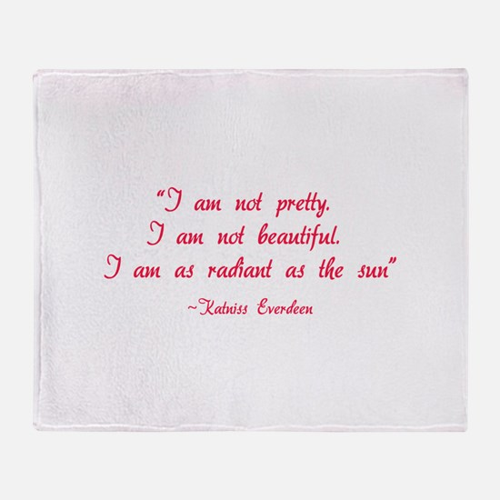 HG I am not pretty... Throw Blanket