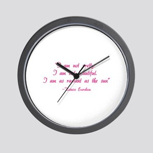 HG I am not pretty... Wall Clock