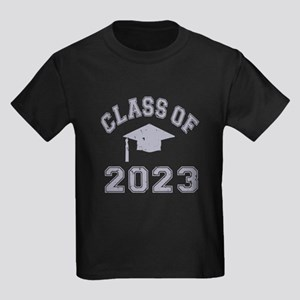 Class Of 2023 Graduation Kids Dark T-Shirt